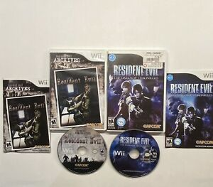 Nintendo-Wii-Resident-Evil-The-Darkside-Chronicles-amp-Archives-2-Game-Bundle