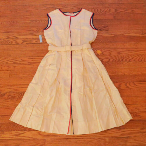 Vintage Dress Raw Silk NORMAN WIATT California MCM