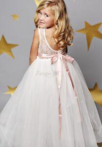 Flower Girls Dress Princess Backless Kids Bridesmaid Wedding Formal Dresses Gown