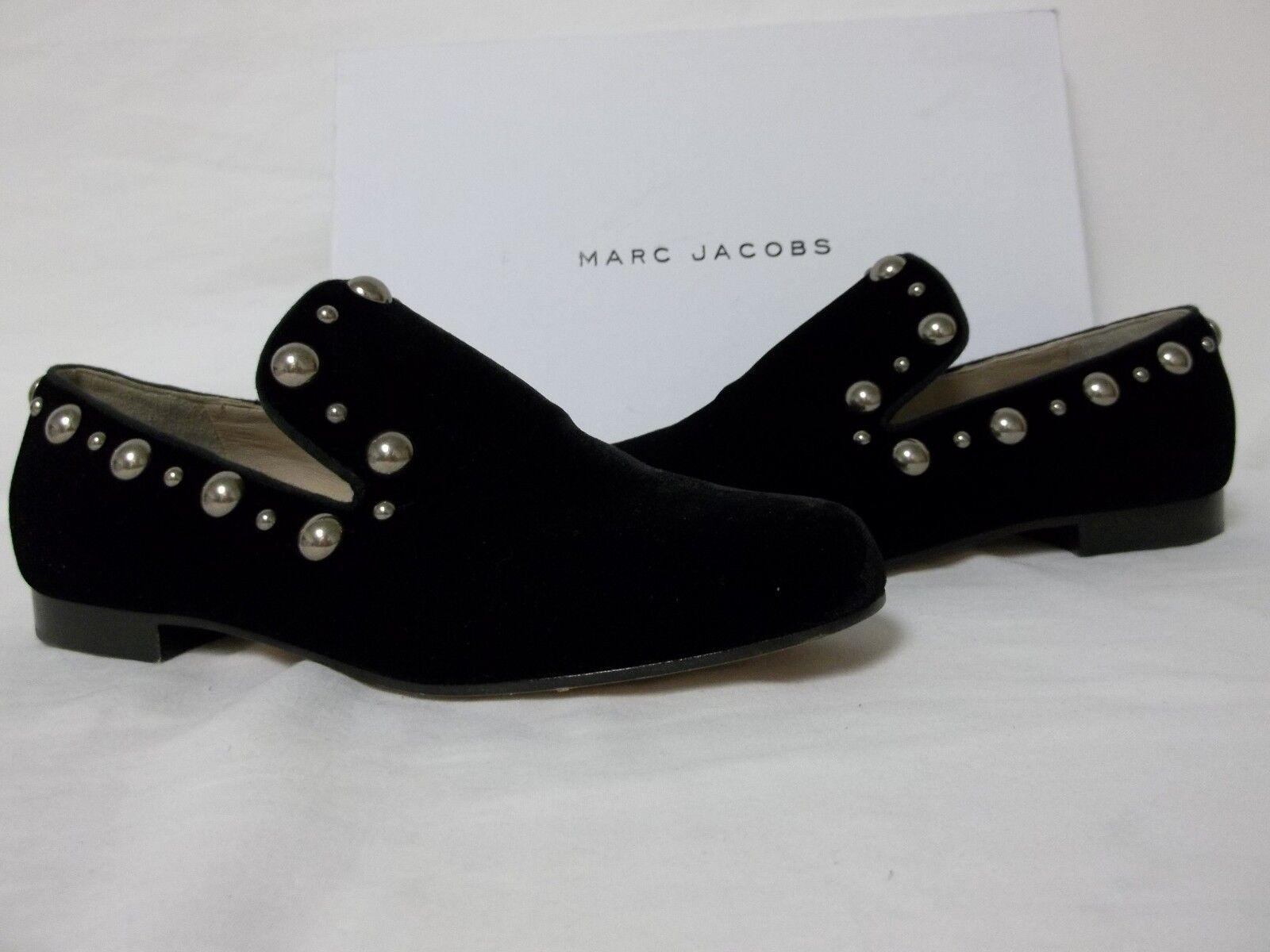 Marc Jacobs Size EU 36.5 US 6.5 M M M Mj21085 Black Velvet Loafers New Womens shoes 485c5e