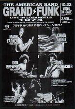 1992 Grand Funk Railroad Live in LA 74 JAPAN video promo mini poster ad gf012r