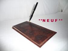 ECRITOIRE  en cuir avec stylo plume(vintage)