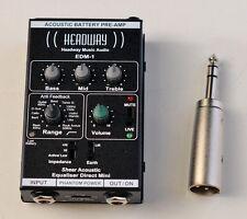 Headway EDM-1 Acoustic Instrument Pre-Amp. Guitar,Bass,Violin Etc.