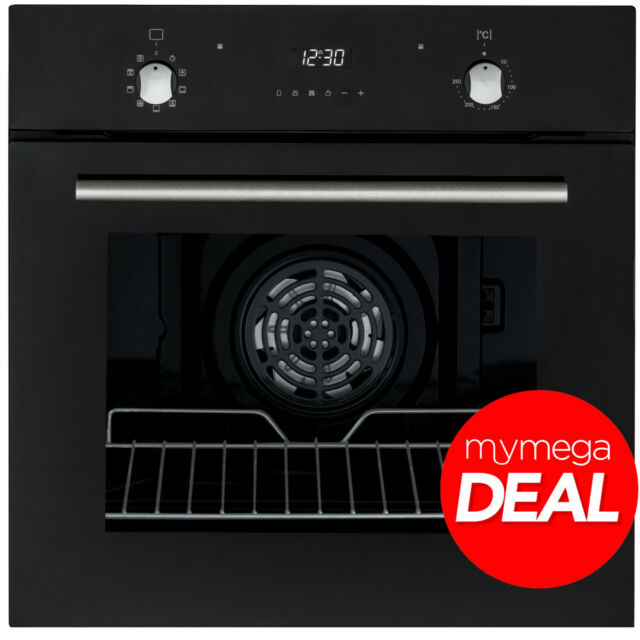 MyAppliances REF28756 60cm Built-in Electric Multifunction Oven Black Glass
