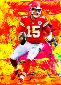 2020-Patrick-Mahomes-Chiefs-15-25-Art-ACEO-Red-Sketch-Print-Card-By-Q