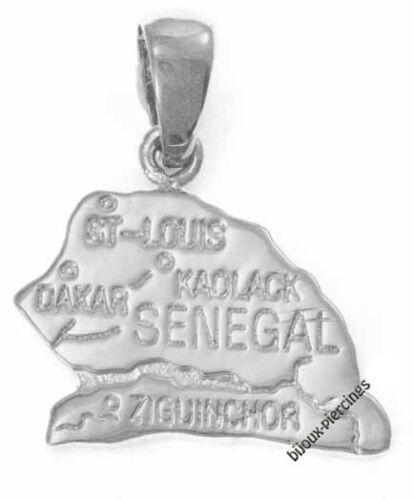 Pendentif carte Sénégal Argent