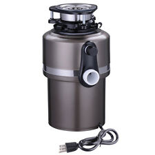 Garbage Disposal 3/4 HP Continuous Feed Home Kitchen Food Waste w/ Plug Black