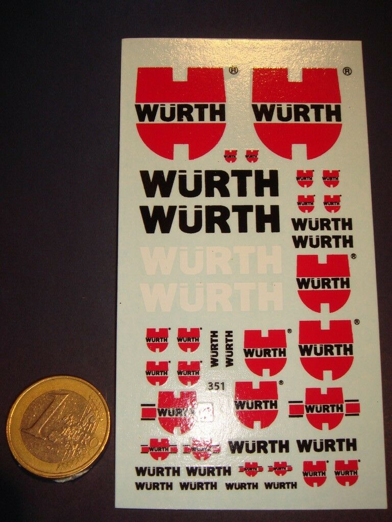 DECALS 1 43 - 1 32 - 1 24 - 1 18 LOGOS WÜRTH - T351