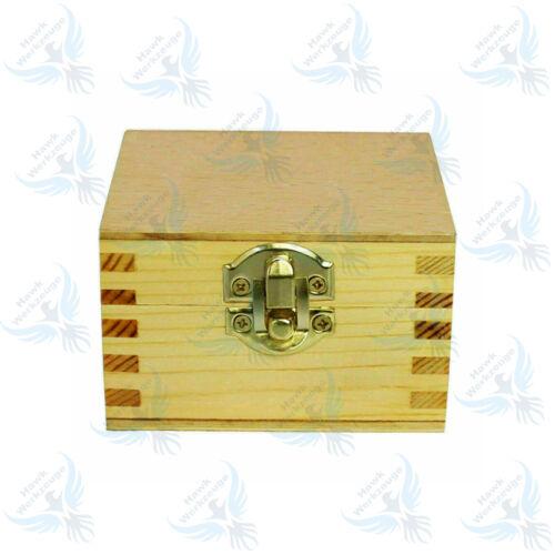 Prismen-Paar mit Spannbügeln je 40 x 32 x 32 mm Ingenieure V-Blöcke Holzkiste