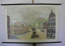 schönes altes Schulwandbild Wandkarte Renaissance 106x76cm vintage 1959 da Vinci