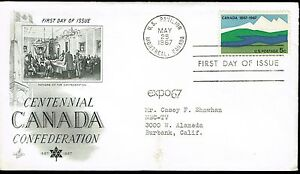 First-Day-of-Issue-Centennial-Canada-Confederation-Expo-67-Montreal-1967