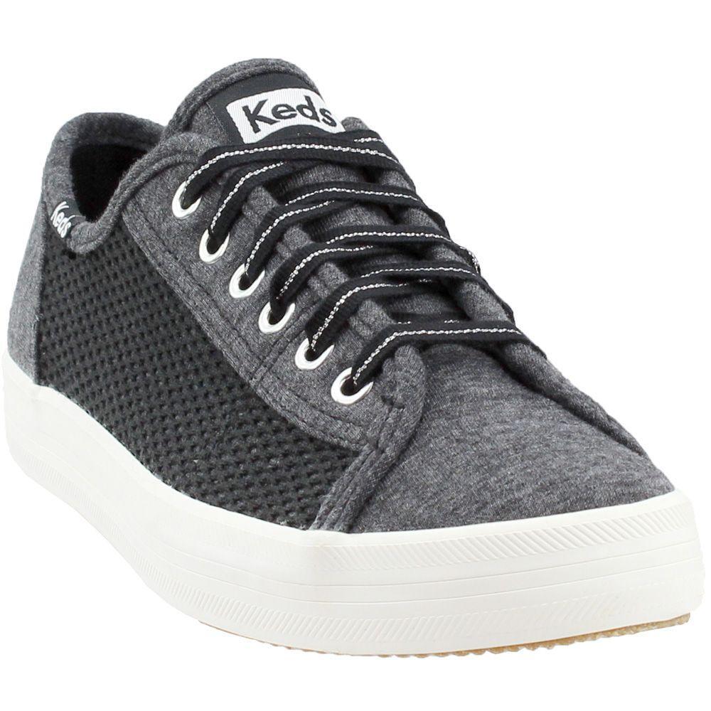 Keds WF58558 Women's Kickstart Mesh Jersey Sneaker Charcoal Size 8.5