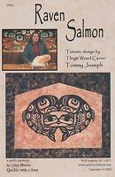 Raven Salmon Quilt Pattern By Lisa Moore, Totemic Tlingit Wood Carving,diy Quilt
