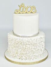 """* Nuevo * FMM """"LOVE"""" palabras para decoración de pasteles cortador Curvo"""