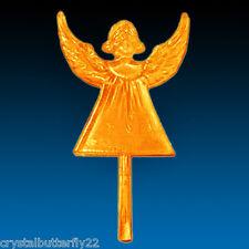 Rare Vintage Plastic Orange Angel Star for Ceramic Christmas Trees **SPECIAL**