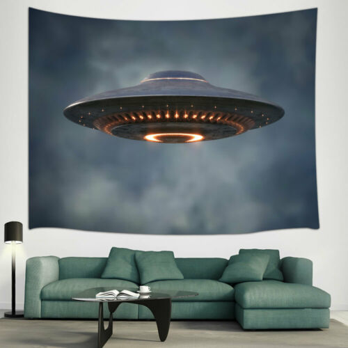 UFO Is Coming Tapestry for Bedroom Living Room Dorm Decor