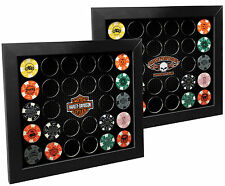 Harley-Davidson® 2-in-1 Poker Chip Collectors Display Frame (Holds 28) 6925D