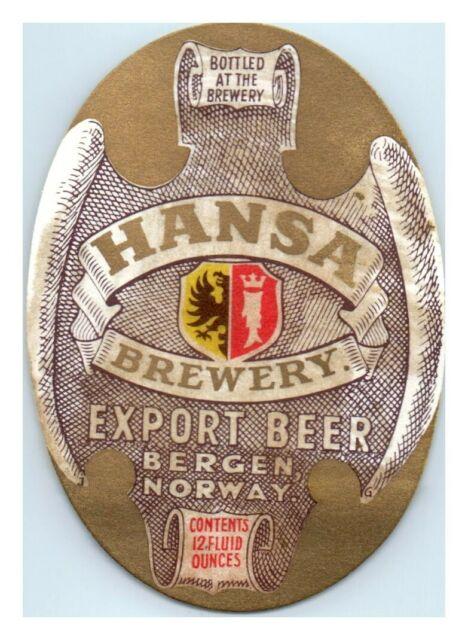 Norway beer labels HANSA BREWERY 2 CHRISTMAS BEER LABELS