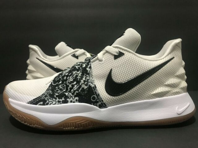 kyrie 4 low white and black