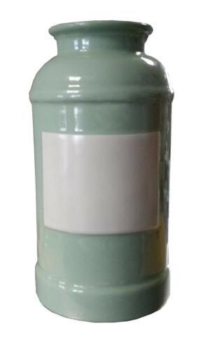 Milchkanne aus Keramik Vase grün Schirmständer 29cm hoch