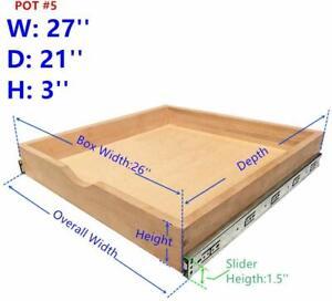 Elysian Kitchen Slide Out Cabinet Shelf Pull Out Wood Drawer 27 X21 Storage2021 Ebay