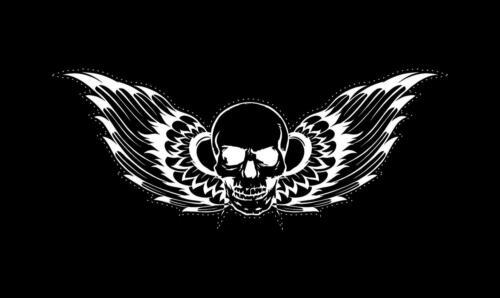 Sticker car motorcycle helmet decal vinyl chopper biker skull angel wings