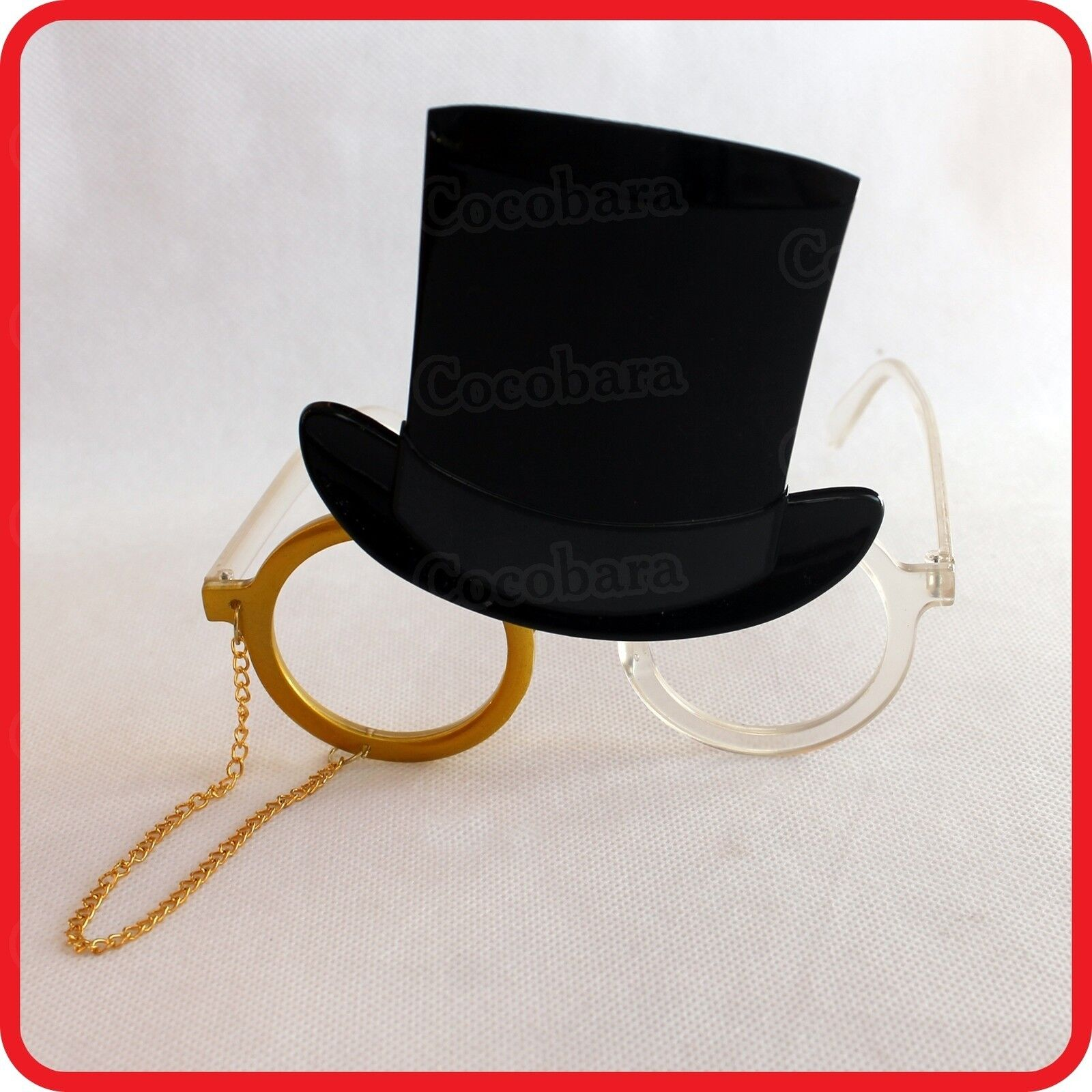 CLASSICAL DOCTOR PROFESSOR TOP HAT MONOCLES-GLASSES CHAIN LANYARD-COSTUME-PARTY