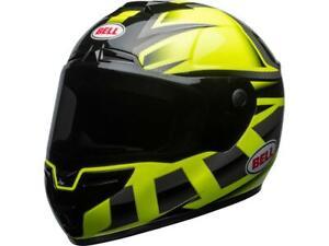 Casque-moto-route-integral-BELL-SRT-Predator-vert-noir