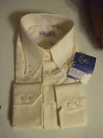 Fabio Gallo La Camicia Dress Shirt 17.5 - 44 Made In Italy Cream Msrp $155
