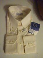 Fabio Gallo La Camicia Dress Shirt 17.5 - 44 Made In Italy Cream Msrp $155