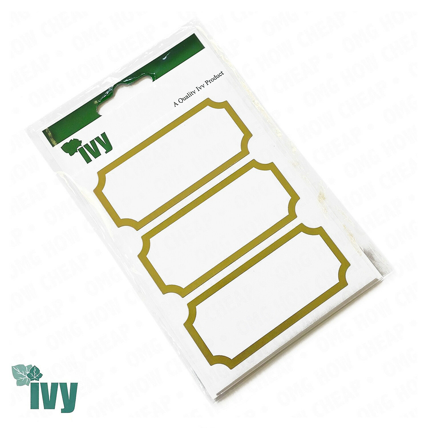 IVY White Address Labels Stickers Self-Adhesive Postage Square Rectangle Strips
