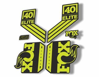 FOX 40 Elite Performance 2017-18 Fork Suspension Fctory Decal Sticker Gray