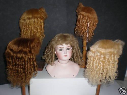 PARRUCCA MOHAIR per BAMBOLA - DOLL parrucca -T6  27,5cm  Fabbricata in Francia