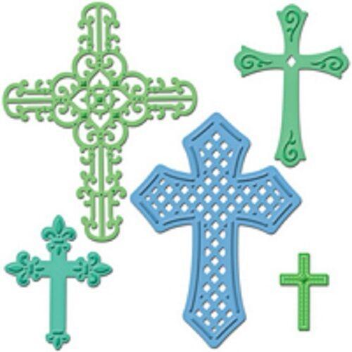 SPELLBINDERS Shapeabilities CROSSES TWO S5-093 Dies Cut Emboss Stencil Religious