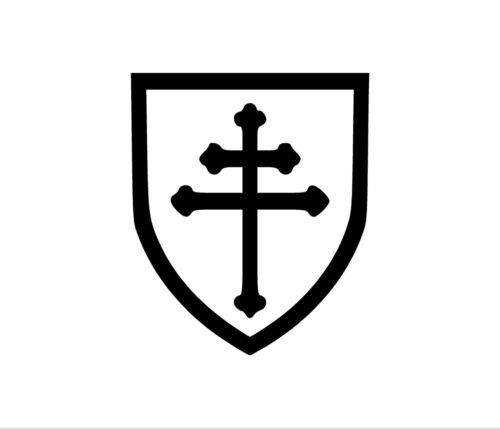 CROSS OF LORRAINE Decal Car Window Bumper Sticker Knights Templar Freemasons