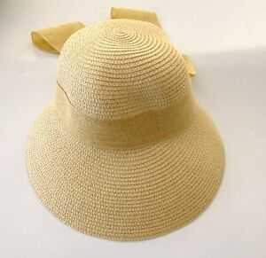 29320a415ab Image is loading New-Women-039-s-Crushable-Packable-Cloche-Straw-