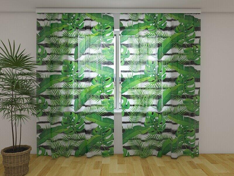 Vorhang Foto-Gardine mit Motiv Natur Pflanzen Exotic Tropical Plants