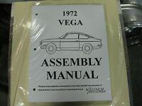 1972 Vega (all Models) Assembly Manual