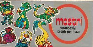 Figurine-autoadesive-pronto-per-l-039-uso-Mostri-Autoadesivi-ediz-P-E-A-Torino