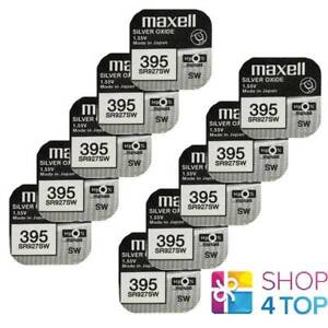 10 MAXELL 395 399 SR927SW BATTERIES SILVER 1.55V WATCH BATTERY EXP 2022 NEW
