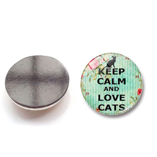 1X Fridge Magnet Glass Sticker Refrigerator KEEP CALM Home Decoration Craft Gift