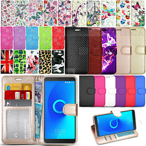 quality design 85867 35ce0 Details about For Alcatel 3C 5026D - Premium Wallet Leather Case Flip Book  Cover +Screen Film