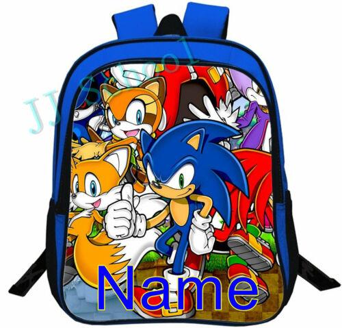 Sonic The Hedgehog Personalised School Bag Backpack Boys Rucksack Book Bag 13/'/'