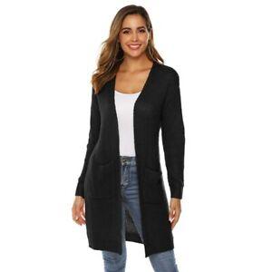 Women  Loose Long Sleeve Knitted Sweater Tops.Cardigan Outwear Coat Jacket  R