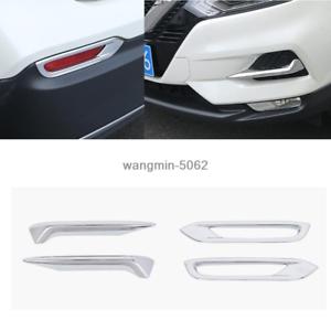 Chrome Rear Fog Light Cover Trim For Nissan Rogue Sport 2017-2020 Accessories