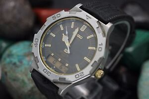 Vintage-SEIKO-Quartz-Sport-150-Alarm-Chronograph-Ana-Digi-H601-S-S-Men-039-s-Watch
