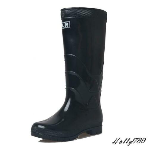 Men/'s Rubber Rain Boots Anti-Skid Waterproof Water Shoes Outdoor Knee High Shoes