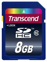 Transcend 8 GB 8GB 8G SD SDHC Class 10 Memory Card -NEW