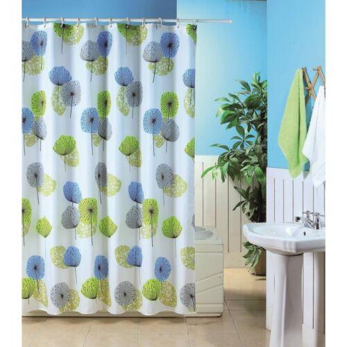 Modern Bathroom Shower Curtain Luxury Designer Range With Ring Hooks New