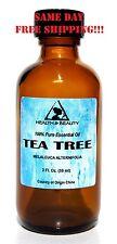 TEA TREE ESSENTIAL OIL by H&B Oils Center AROMATHERAPY GLASS BOTTLE 2 OZ, 59 ml